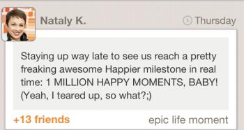 Nataly 1 milllion moment