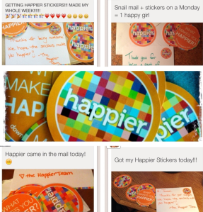 Happier stickers go global