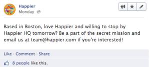 Happier secret mission