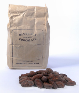 Dandelion chocolate's roasted cocoa beans