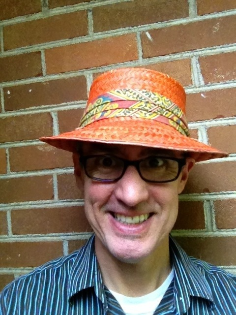 Neil orange hat